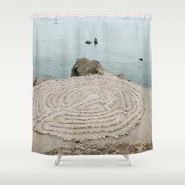 Lands End Labyrinth, San Francisco Shower Curtain