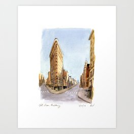 The Flatiron Building in March Art Print