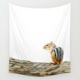 Little Chip - a painting of a Chipmunk by Teresa Thompson Wall Tapestry