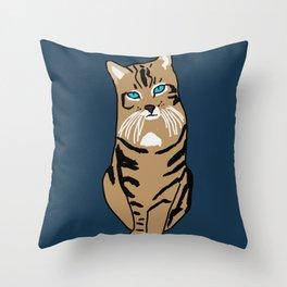 The curious cat Throw Pillow