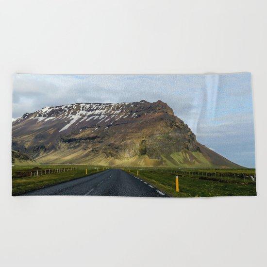 Mountain Road Beach Towel
