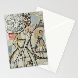 In the mirror  Stationery Cards