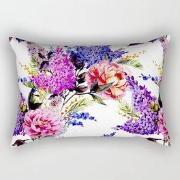 Watercolour Flowers Rectangular Pillow