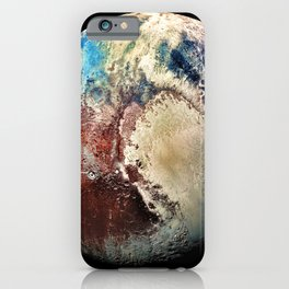 Planet Pluto Deep Space Space Craft Pass By Telescopic Photograph iPhone Case