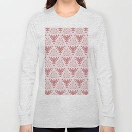 Elegant White Lace Overlay Design Long Sleeve T-shirt