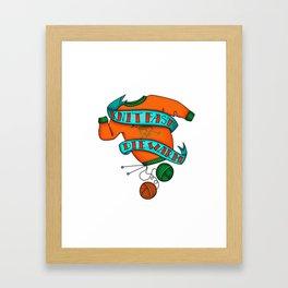 Knit Fast Die Warm Framed Art Print