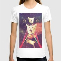saga T-shirts featuring galactic Cats Saga 4 by Carolina Nino