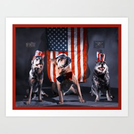 Foggytop Krew Fourth of July Art Print