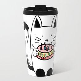 Happy Birthday - CAT WITH CAKE Travel Mug