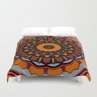 gladiator Duvet Covers featuring Furious Gladiator by Silentwolf