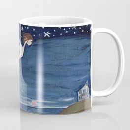 Flying Girl Remembers Her Dreams, or Night Blooming Coffee Mug