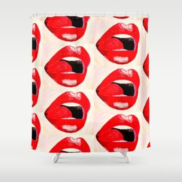 Red Lips #society6 #decor #buyart Shower Curtain