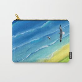 Birds view above sea. Carry-All Pouch