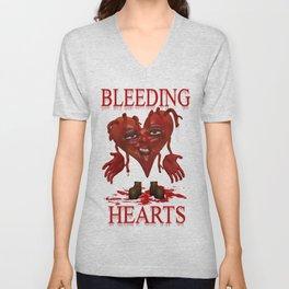 Bleeding Hearts .. gothic fantasy Unisex V-Neck