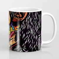 scream Mugs featuring Scream by Vasco Vicente