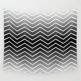Fat Thin Chevrons Dove White Wall Tapestry