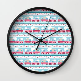 Glamping stripes Wall Clock