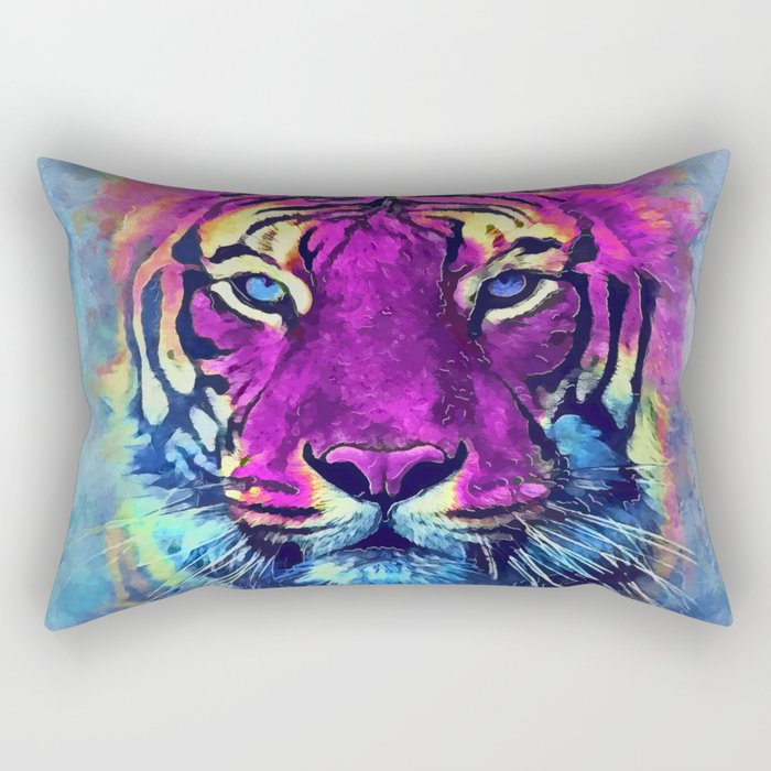 tiger purple spirit #tiger Rectangular Pillow