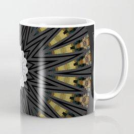 Dark Black Gold & White Marble Mandala Coffee Mug