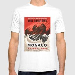 1960 MONACO Grand Prix Racing Poster T-shirt