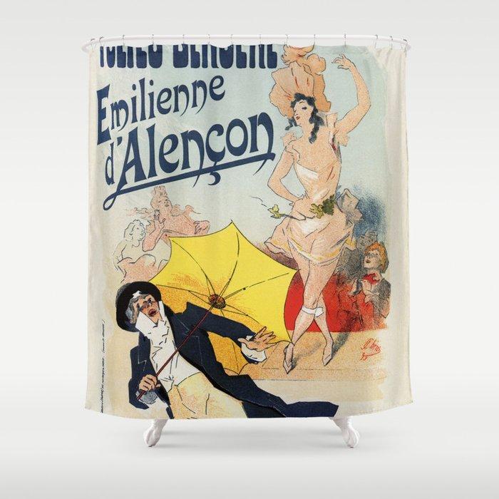 Folies Bergère 1893 Emilienne d'Alencon Shower Curtain