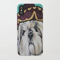 shih tzu iPhone & iPod Cases featuring Mimosa the Shih Tzu by Cheney Beshara