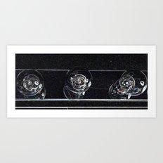 3 bulbs Art Print