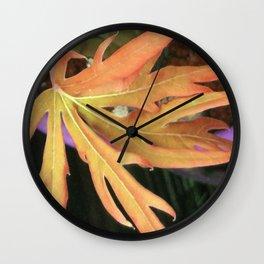 Leaf Study 2 Wall Clock