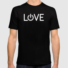 Love is Power MEDIUM Mens Fitted Tee Black