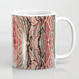 Abstract Orange Spaghetti Bowl Coffee Mug