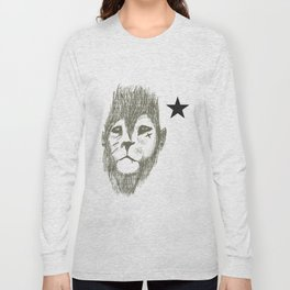 Punkster Lion *remade for tshirts* Long Sleeve T-shirt