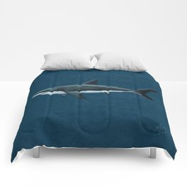 """Carcharodon carcharias"" by Amber Marine  ~ Great White Shark Art, (Copyright 2015) Comforters"