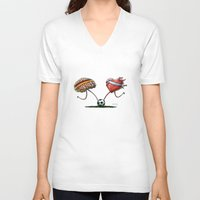 world cup V-neck T-shirts featuring WORLD CUP FINAL 2014 by Santiago Vecino