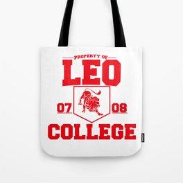 Leo Zodiac Sign Fun College Gift Spoof Design Tote Bag
