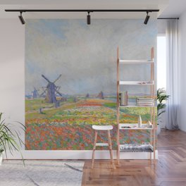 "Claude Monet ""Tulip Fields near The Hague"" Wall Mural"
