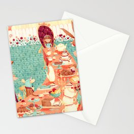 Alice's Tea Party Stationery Cards