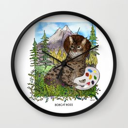 Bobcat Ross Wall Clock