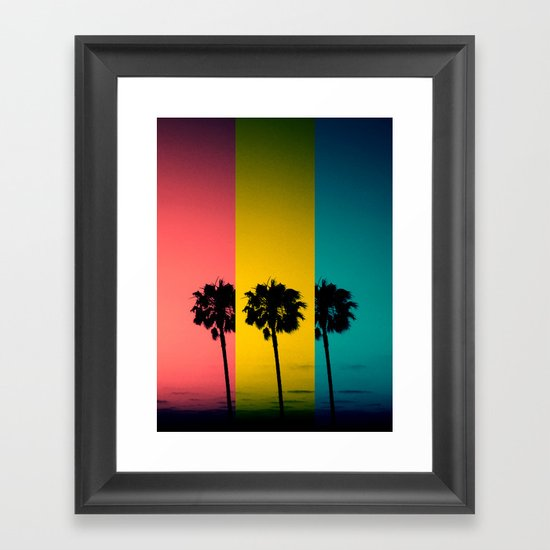 Vintage Palm Tree Framed Art Print