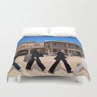 downton abbey Duvet Covers featuring Abbey road by eARTh