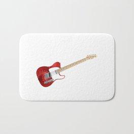 Guitar With Fractal Graphics Bath Mat