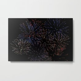 New Years Firework Texture Metal Print