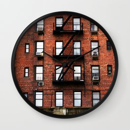 Red Brick Living in New York City  Wall Clock
