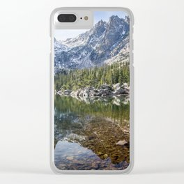 Emerald Lake Reflections Clear iPhone Case