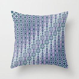 "Cos(a × (n × j^2 + k × i^2)) × 0.7 [""70s Pattern""] - [PIXEL ZOOM] Throw Pillow"