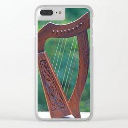 Harp In the Sun Clear iPhone Case