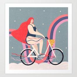 Rainbow rider Art Print