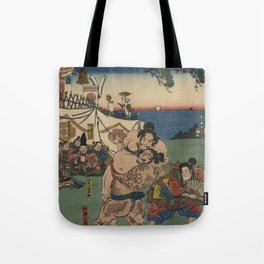 A game of Sumo Wrestling. Tote Bag
