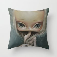 Girl with tattoo1 Throw Pillow