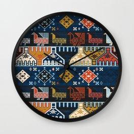 Dena in Blue Wall Clock