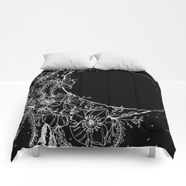 The Flower Moon; Crescent Moon; Feathers; Dream Catcher; Chalk Art Comforters